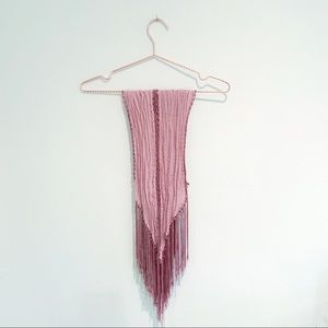 ⬇️ Urban Outfitters Ecote Pink Fringe Scarf